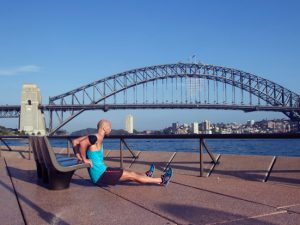 Dips vor der Harbour Bridge in Sydney